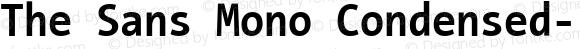 The Sans Mono Condensed- Regular Version 001.000