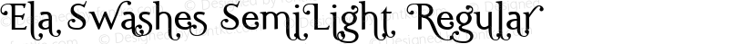Ela Swashes SemiLight Regular Preview Image
