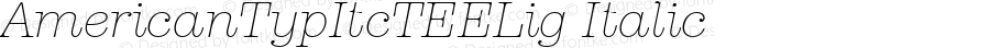 AmericanTypItcTEELig Italic Version 001.005