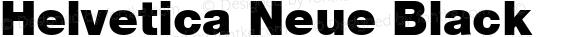 Helvetica Neue Black