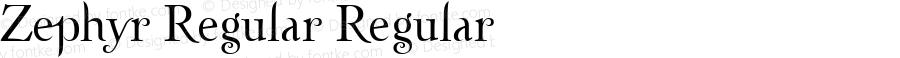 Zephyr Regular Regular Macromedia Fontographer 4.1.3 10/29/01