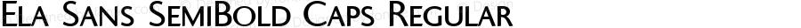 Ela Sans SemiBold Caps Regular PDF Extract
