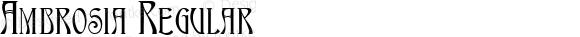 Ambrosia Regular Macromedia Fontographer 4.1.5 9/3/98