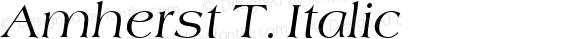 Amherst T. Italic 1.0