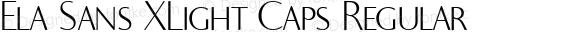 Ela Sans XLight Caps Regular PDF Extract
