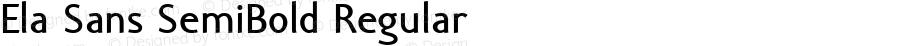 Ela Sans SemiBold Regular PDF Extract