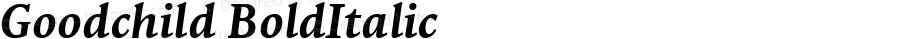 Goodchild BoldItalic Macromedia Fontographer 4.1.3 6/30/02