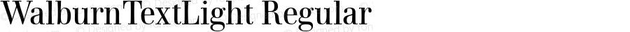 WalburnTextLight Regular Version 2.02