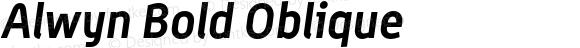 Alwyn Bold Oblique