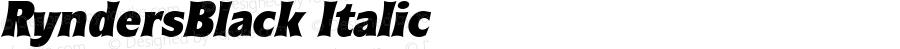 RyndersBlack Italic Macromedia Fontographer 4.1.5 5/15/98