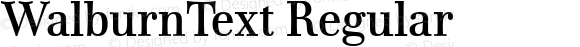 WalburnText Regular Version 2.02