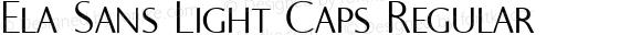 Ela Sans Light Caps Regular PDF Extract