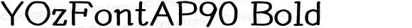YOzFontAP90 Bold