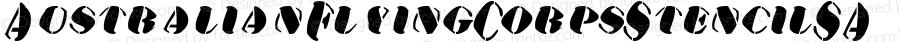 AustralianFlyingCorpsStencilSA Regular Perry Mason                 28 06 01