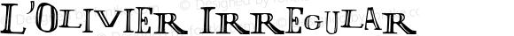 L'Olivier Irregular Macromedia Fontographer 4.1.4 19/10/98