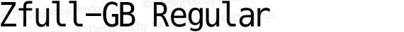 Zfull-GB Regular preview image