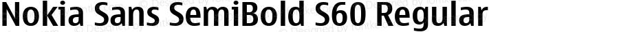 Nokia Sans SemiBold S60 Regular Version 2.00