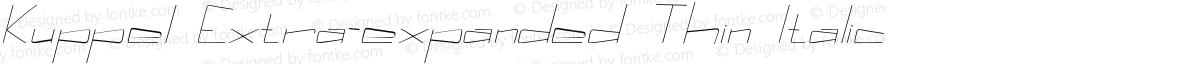 Kuppel Extra-expanded Thin Italic