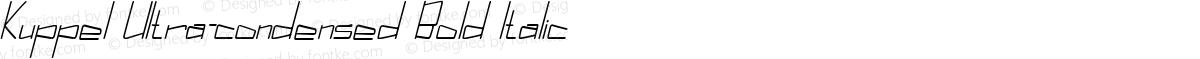 Kuppel Ultra-condensed Bold Italic