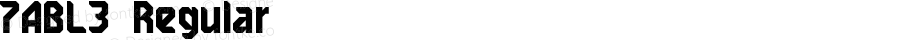 7ABL3 Regular Macromedia Fontographer 4.1.5 12.09.01