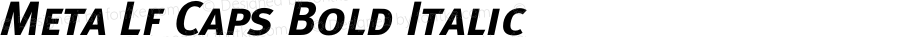 Meta Lf Caps Bold Italic 004.301