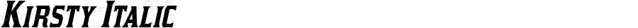 Kirsty Italic OTF 3.000;PS 001.001;Core 1.0.29