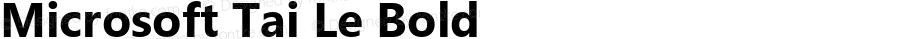 Microsoft Tai Le Bold Version 5.90