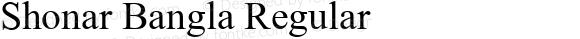 Shonar Bangla Regular Version 5.91