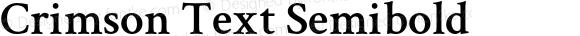 Crimson Text Semibold