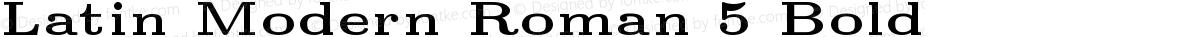 Latin Modern Roman 5 Bold