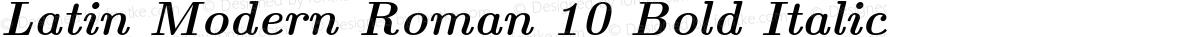 Latin Modern Roman 10 Bold Italic
