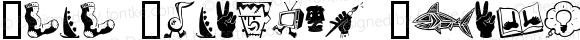 Zono Dingbats Regular Macromedia Fontographer 4.1.4 11/6/00