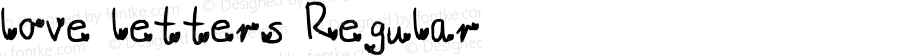 love letters Regular Lanier My Font Tool for Tablet PC 1.0