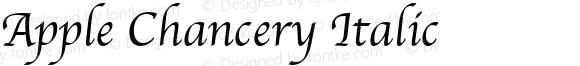 Apple Chancery Italic