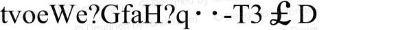 UWPF8F (GB) Regular Version 1.0
