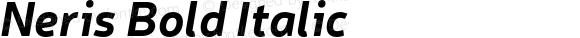 Neris Bold Italic