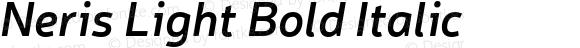 Neris Light Bold Italic