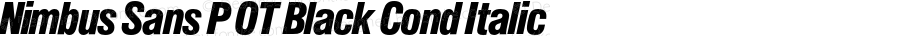 Nimbus Sans P OT Black Cond Italic OTF 1.001;PS 1.05;Core 1.0.27;makeotf.lib(1.11)