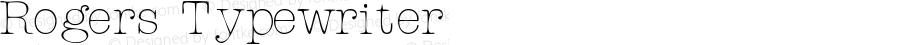 Rogers Typewriter Macromedia Fontographer 4.1 06.04.01