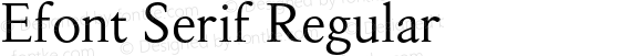 Efont Serif Regular 000.001
