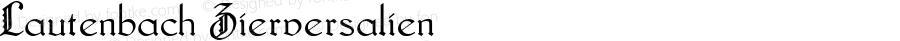 Lautenbach Zierversalien Macromedia Fontographer 4.1 05.06.01