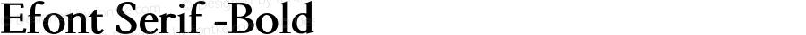 Efont Serif -Bold 000.001