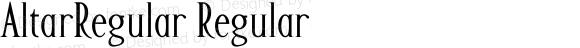 AltarRegular Regular Macromedia Fontographer 4.1.5 1/22/02