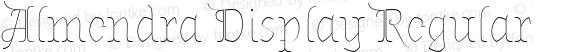 Almendra Display Regular Version 1.003