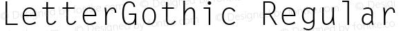 LetterGothic Regular