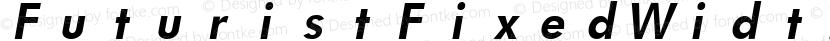 FuturistFixedWidth Bold Italic Preview Image