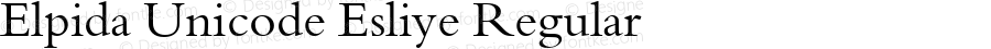 Elpida Unicode Esliye Regular Version 2.51