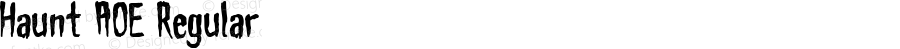 Haunt AOE Regular Macromedia Fontographer 4.1.2 4/21/02