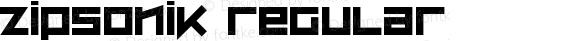 ZipSonik Regular Macromedia Fontographer 4.1 26/05/2002