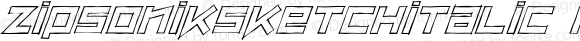 ZipSonikSketchItalic Regular Macromedia Fontographer 4.1 26/05/2002